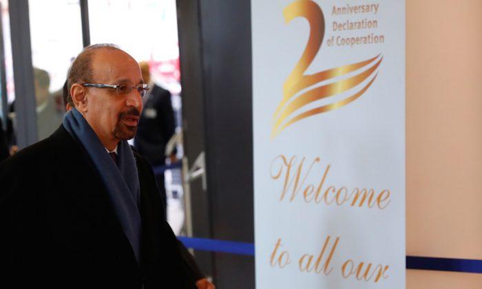 Saudi Arabia's Oil Minister Khalid al-Falih arrives at the OPEC headquarters in Vienna, Austria on Dec. 6, 2018.   (Leonhard Foeger/Reuters)
