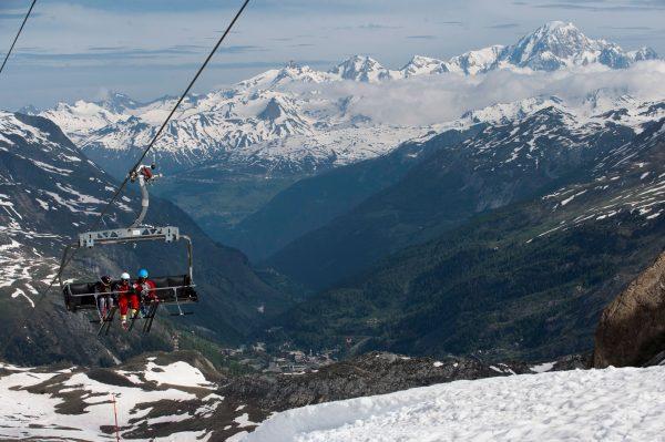 The Val D'Isere ski resort