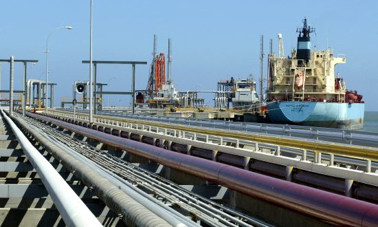 An oil tanker is seen at Jose refinery cargo terminal in Venezuela in this undated file photo. (Reuters/Jorge Silva)
