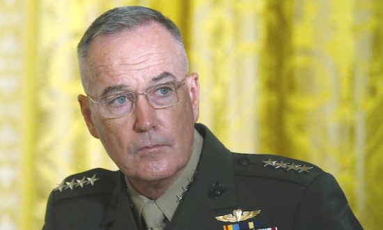 U.S. Joint Chiefs Chairman General Joseph Dunford  attends a meeting of the National Space Council in the East Room of the White House in Washington, U.S., June 18, 2018. (Reuters/Leah Millis)