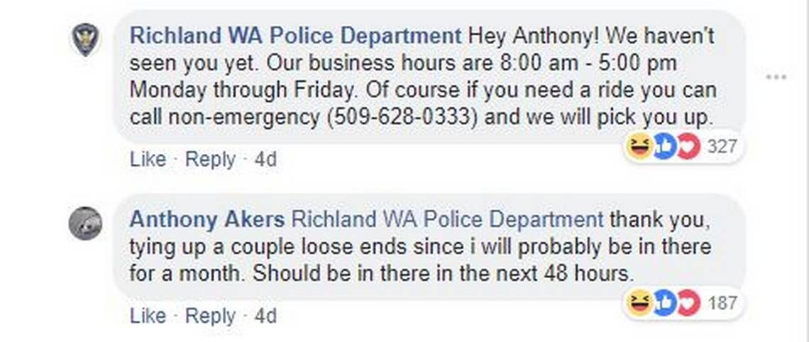 police department has funny exchange