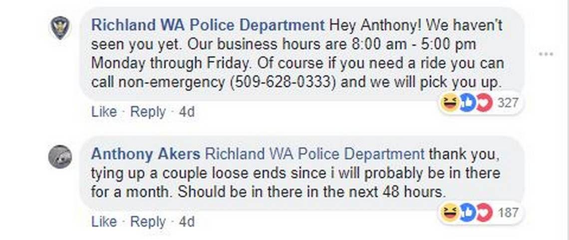 police department has funny exchange