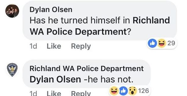 police respond on facebook
