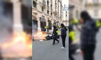 'Yellow Vest' Protesters Smash Coffee Shop and Torch Motorbike in Paris