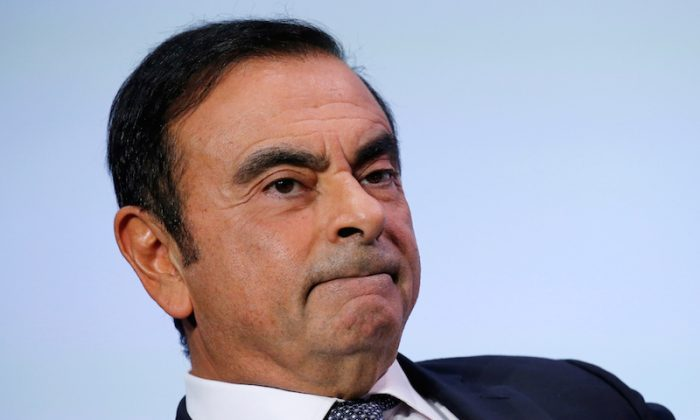 Carlos Ghosn, chairman and CEO of the Renault-Nissan-Mitsubishi Alliance, attends at the Tomorrow In Motion event on the eve of press day at the Paris Auto Show, in Paris, France, on Oct. 1, 2018. (Regis Duvignau/File Photo/Reuters)