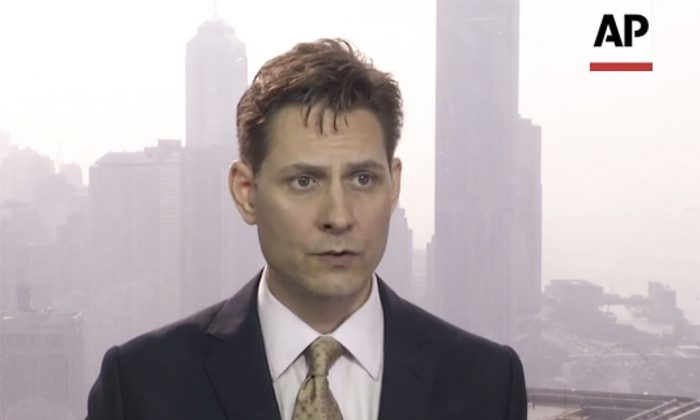 Michael Kovrig, a former Canadian diplomat who has been detained by China, in a file photo during an interview in Hong Kong on March 28, 2018. (AP Photo)