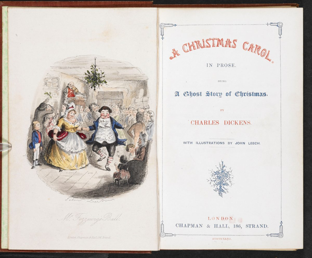 Charles Dickens Cover Page A Christmas Carol