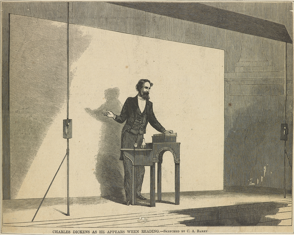 Charles Dickens on stage