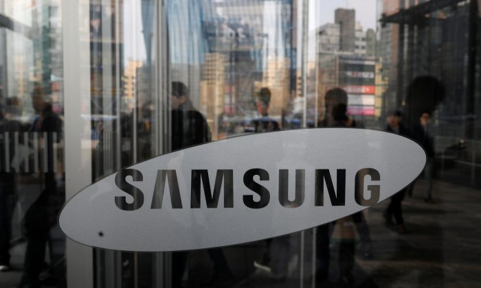 The logo of Samsung Electronics is seen at its office building in Seoul, South Korea on March 23, 2018. (Kim Hong-Ji/Reuters)