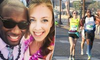Blind marathon runner finds love with woman who runs beside him as his guide