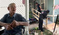 92-year-old can't use ramp with wheelchair, so fire crew steps in to make his life easier