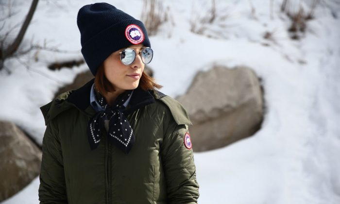 A festivalgoer wears Canada Goose at the 2018 Sundance Film Festival in Park City, Utah, on Jan. 19, 2018. (Rich Fury/Getty Images for Canada Goose)