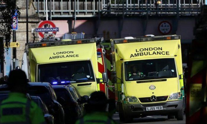 Stock footage of a UK ambulance (Reuters/Luke MacGregor)