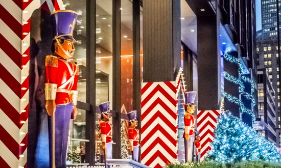 Toy soldier Christmas decorations along Park Avenue. (Andrew F. Kazmierski/Shutterstock.com)