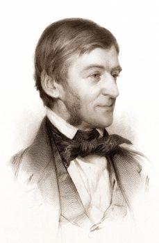 portrait of Ralph Waldo Emerson 1878