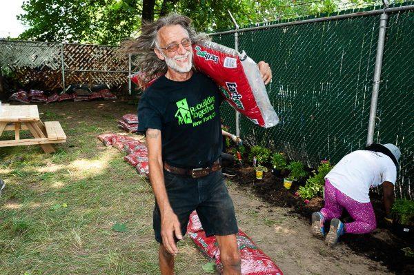 Scott with mulch