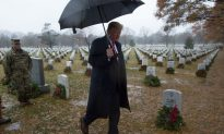 President Trump Visits Arlington National Cemetery in the Rain