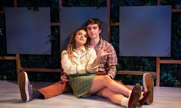 """Aoife Kelly and Phil Gillen in Irish Repertory Theatre's """"Two by Friel."""" (Jeremy Daniel)"""