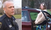Cop sees family of four inside car and helps them find a place to stay