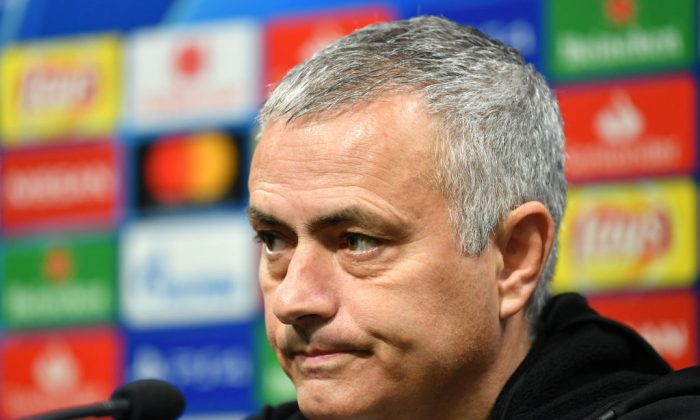 File photo of Jose Mourinho, who has been relieved of his duties as manager of the Manchester United football club, speaking to the media in Valencia, Spain, on Dec. 11, 2018. (Dan Mullan/Getty Images)