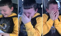 Boy confused why parents take him to airport on Xmas until he's handed a letter from Santa