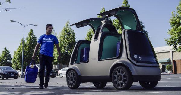 Nuro's unmanned vehicle