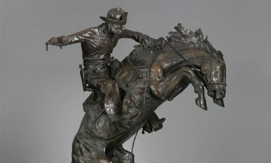 The Old West in 'The Broncho Buster' by Frederic Remington