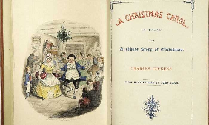 """The title page of the first edition of """"A Christmas Carol."""" (Public Domain)"""