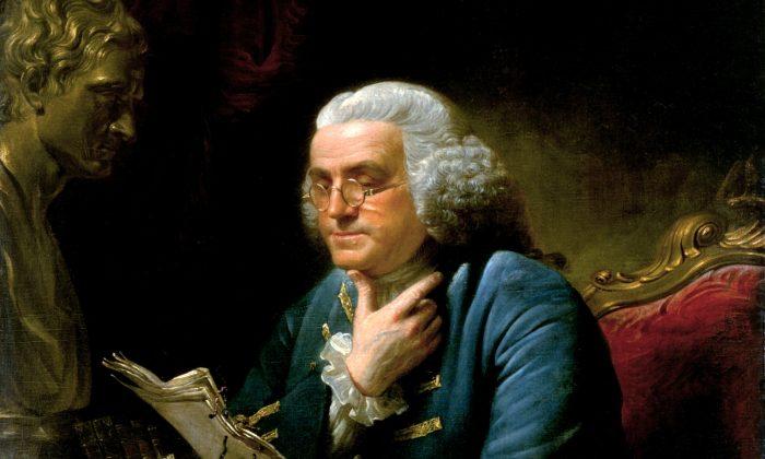 Ben Franklin was a reader. Portrait Benjamin Franklin in London, 1767, by David Martin. (Public Domain)