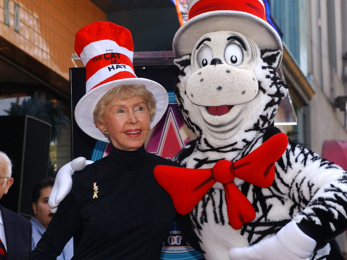 8bf1863c Audrey Geisel, the widow of Dr. Seuss creator Theodore Geisel, poses with  the