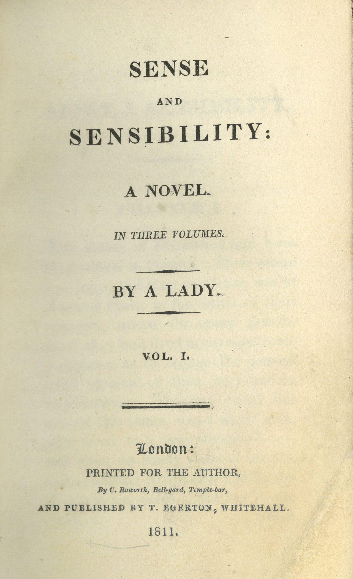 Title page Sense and Sensibility Jane Austen