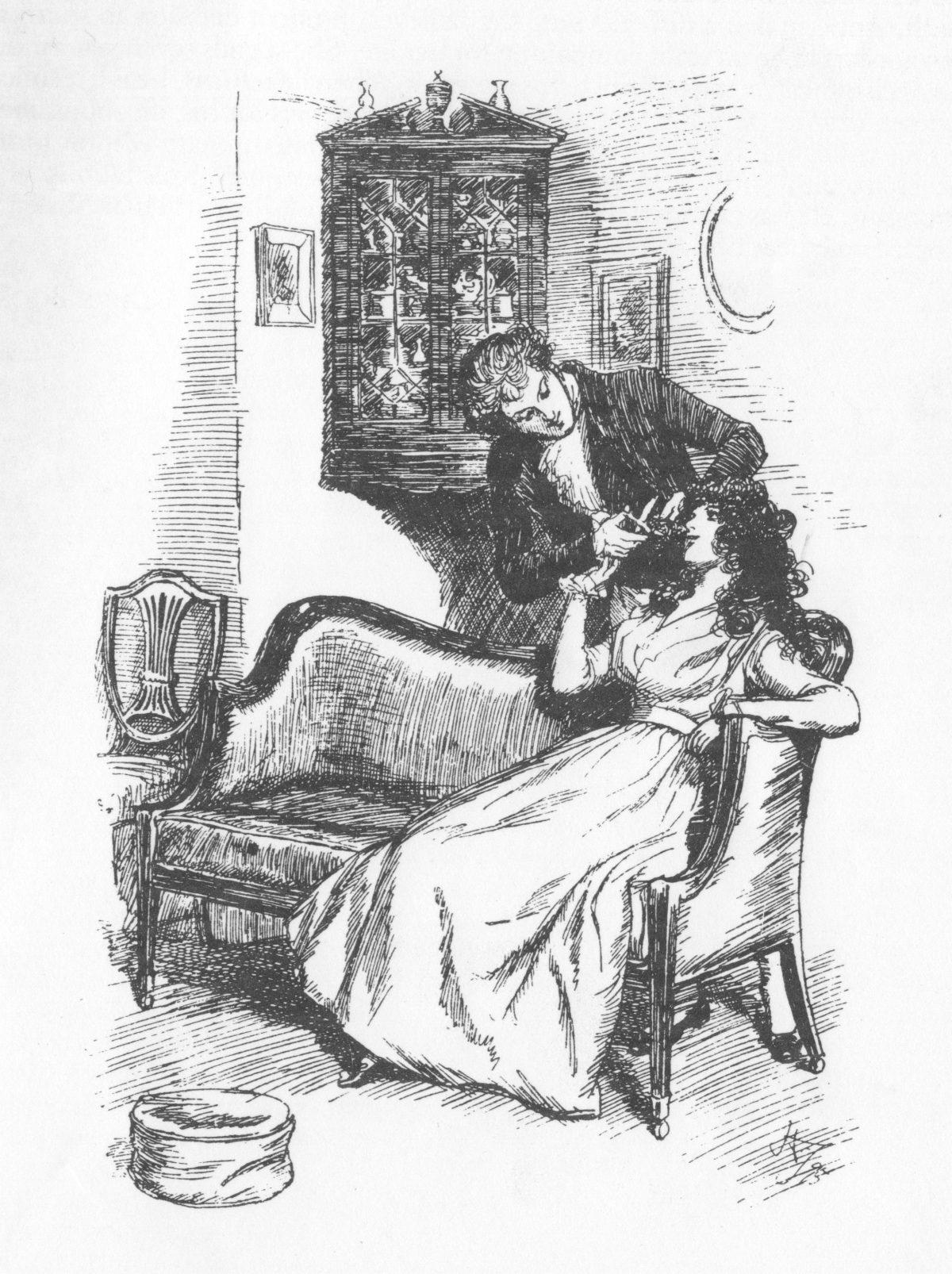 Illustration Hugh Thomson Sense and Sensibility
