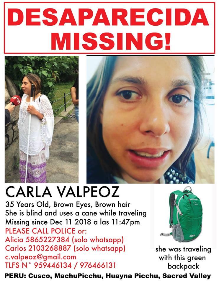 carla-valpeoz missing poster