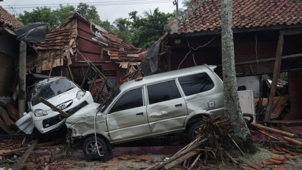 damaged cars in Indonesia