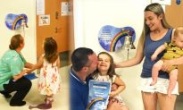 Four-year-old gets to ring bell to end cancer treatment