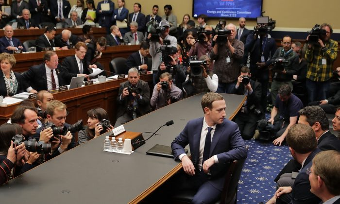 Facebook co-founder, Chairman and CEO Mark Zuckerberg prepares to testify before the House Energy and Commerce Committee in the Rayburn House Office Building on Capitol Hill on April 11, 2018. (Chip Somodevilla/Getty Images)