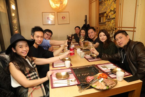 Diners eat traditional korean meal at missKOREA