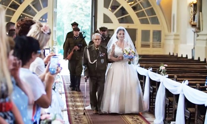 WW2 hero fulfils last duty by walking granddaughter down the aisle, passes on 2 days later