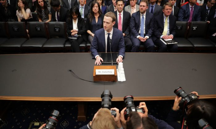 Facebook co-founder, Chairman and CEO Mark Zuckerberg prepares to testify before the House Energy and Commerce Committee in the Rayburn House Office Building on Capitol Hill April 11, 2018 in Washington. (Chip Somodevilla/Getty Images)