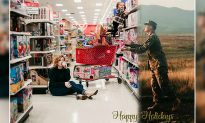 Military wife cleverly includes deployed hubby in sweet Christmas card to spread holiday cheer