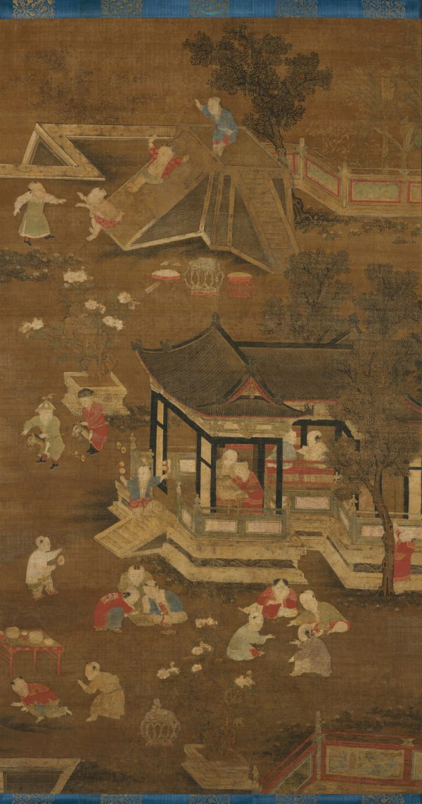 Children playing in the palace garden, late Yuan (1271–1368) to early Ming (1368–1644) Dynasty.