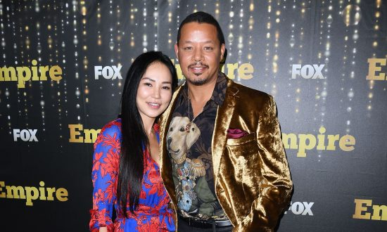 Actor Terrence Howard and Mira Pak attend the Empire Season 5 premiere in New York on Sept. 24, 2018. (Angela Weiss/AFP/Getty Images)
