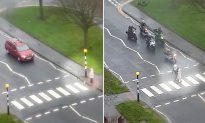 Bikers Man Up, Stop Traffic, and Help Elderly Woman Cross a Busy Street in Scotland
