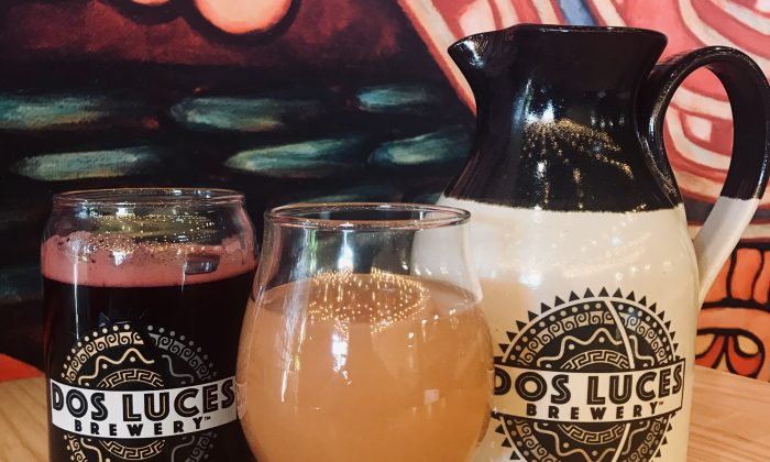 (From L) Dos Luces' chicha and pulque pay tribute to Latin America's indigenous fermentation traditions. (Sara Schiffer)