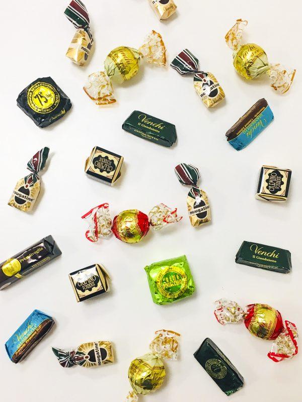 variety of italian chocolates from venchi