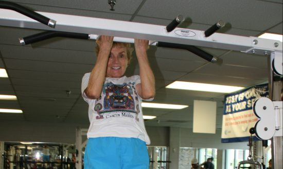 Strength training into a senior years can give us the physical strength to overcome one of the biggest threats we will face—gravity. (U.S. Army photo by Olivia Mendoza)