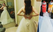 Designer Pours Dazzling Dyes on White Wedding Gown, and the Result is Absolutely Magical