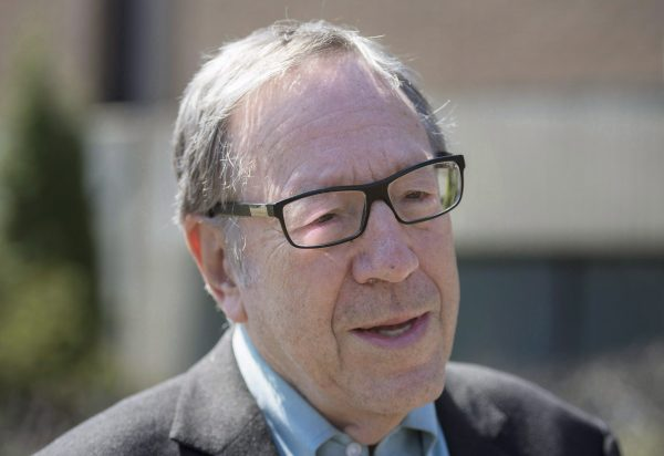 Former Canadian Minster of Justice Iriwin Cotler attends an event in Montreal on April 14, 2017. (The Canadian Press/Graham Hughes)