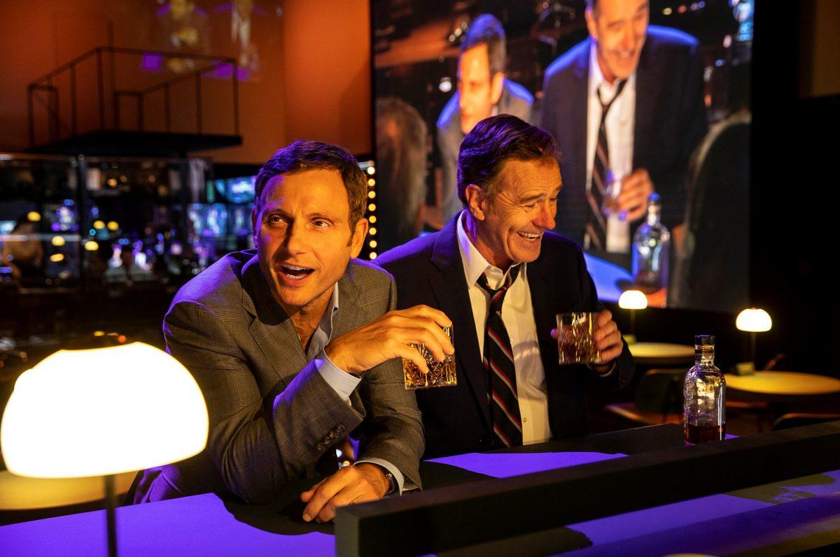 ony Goldwyn and Bryan Cranston in NETWORK