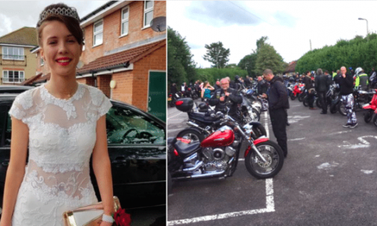 3657f84b37e Bullied girl was scared to go on prom—then 120 leather-clad bikers ...